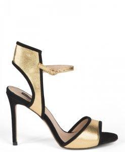 Sandale elegante aurii Auriu/Negru - Incaltaminte - Incaltaminte / Sandale