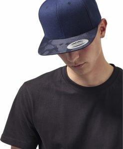 Sapca Visor Snapback Camo bleumarin-camuflaj Flexfit - Sepci snapback - Flexfit>Sepci snapback