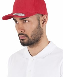 Sepci originale Brushed Cotton Twill Mid-Profile rosu Flexfit - Sepci snapback - Flexfit>Sepci snapback