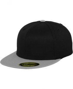 Sepci rap Premium 210 Fitted doua culori negru-gri Flexfit - Sepci 210 FITTED - Flexfit>Sepci 210 FITTED