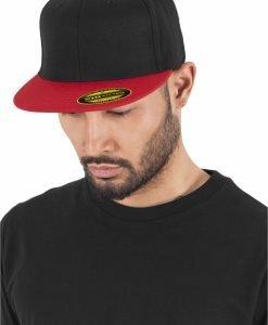 Sepci rap Premium 210 Fitted doua culori negru-rosu Flexfit - Sepci 210 FITTED - Flexfit>Sepci 210 FITTED