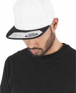 Sepci rap Snapback 110 Fitted alb-negru Flexfit - Sepci 110 - Flexfit>Sepci 110