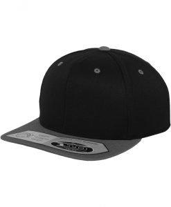 Sepci rap Snapback 110 Fitted negru-gri Flexfit - Sepci 110 - Flexfit>Sepci 110