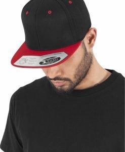 Sepci rap Snapback 110 Fitted negru-rosu Flexfit - Sepci 110 - Flexfit>Sepci 110