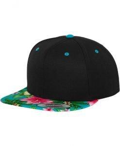 Sepci rap Snapback Hawaiian negru-albastru aqua Flexfit - Sepci snapback - Flexfit>Sepci snapback