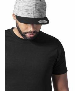 Sepci rap Snapback Stripes Melange Crown negru-gri Flexfit - Sepci snapback - Flexfit>Sepci snapback