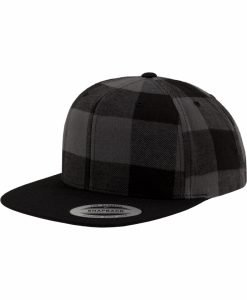 Sepci rap snapback Flanell in carouri negru-gri carbune Flexfit - Sepci snapback - Flexfit>Sepci snapback
