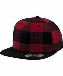 Sepci rap snapback Flanell in carouri negru-rosu Flexfit - Sepci snapback - Flexfit>Sepci snapback