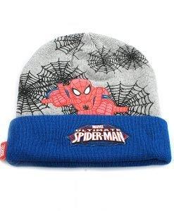 Set caciula cu fular Spiderman by Marvel albastru cu gri - Aксесоари - Aксесоари Детски