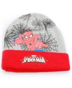 Set caciula cu fular Spiderman by Marvel rosu cu grey - Aксесоари - Aксесоари Детски