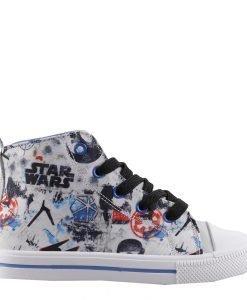 Tenisi copii Star Wars Rogue One albi cu albastru - Incaltaminte Copii - Tenisi Copii
