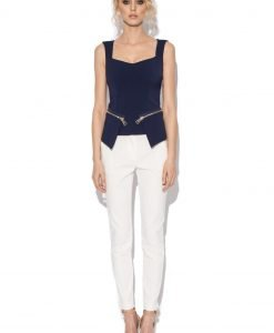 Top bleumarin tip corset Bleumarin - Imbracaminte - Imbracaminte / Topuri