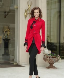 Trench Artista Spring Temptation Red - Trenciuri -