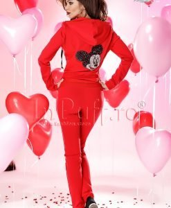 Trening dama rosu cu model pe spate - TRENINGURI -