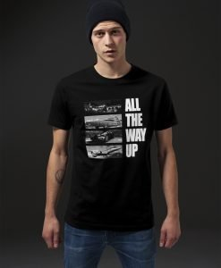Tricou All The Way Up Stairway negru Mister Tee - Tricouri cu mesaje - Mister Tee>Regular>Tricouri cu mesaje