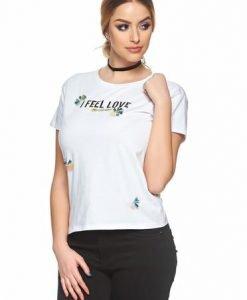 Tricou Best Feeling White - Tricouri -
