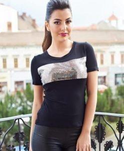 Tricou Daniella Cristea Glam Day Black - Tricouri -