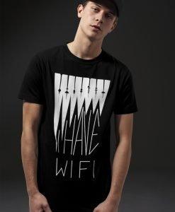 Tricou I have Wifi negru Mister Tee - Tricouri cu mesaje - Mister Tee>Regular>Tricouri cu mesaje
