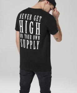 Tricou Never Get High negru Mister Tee - Tricouri personalizate - Mister Tee>Interzise>Tricouri personalizate