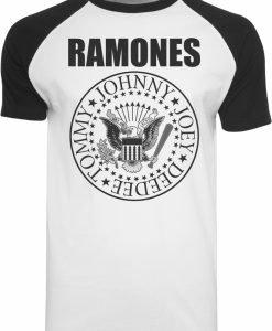 Tricou Ramones Circle alb-negru Merchcode - Tricouri cu trupe - Mister Tee>Trupe>Tricouri cu trupe