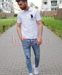Tricou alb de barbat - Haine barbati - Haine barbati > Tricouri Barbatesti
