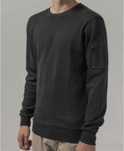 Tricou bomber cu maneca lunga Interlock negru Urban Classics - Bluze cu guler rotund - Urban Classics>Barbati>Bluze cu guler rotund