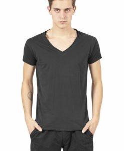 Tricou casual fitted cu decolteu in V negru Urban Classics - Tricouri urban - Urban Classics>Barbati>Tricouri urban