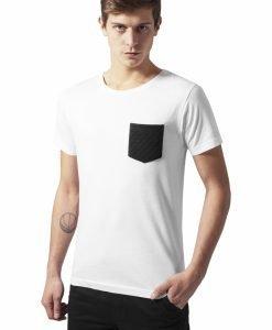 Tricou cu buzunar alb-negru Urban Classics - Tricouri urban - Urban Classics>Barbati>Tricouri urban