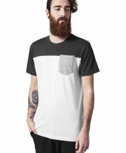 Tricou cu buzunar trei culori alb-gri carbune Urban Classics - Tricouri urban - Urban Classics>Barbati>Tricouri urban