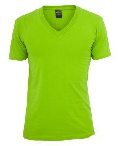 Tricou cu decolteu in V Basic verde lime Urban Classics - Tricouri urban - Urban Classics>Barbati>Tricouri urban