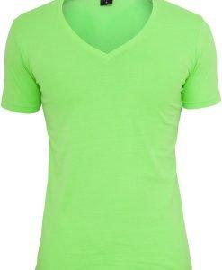 Tricou cu decolteu in V Neon verde Urban Classics - Tricouri urban - Urban Classics>Barbati>Tricouri urban