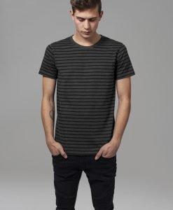 Tricou cu dungi gri carbune-negru Urban Classics - Tricouri urban - Urban Classics>Barbati>Tricouri urban
