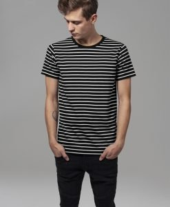 Tricou cu dungi negru-alb Urban Classics - Tricouri urban - Urban Classics>Barbati>Tricouri urban
