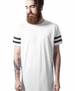 Tricou cu plasa cu dungi alb-negru Urban Classics - Tricouri urban - Urban Classics>Barbati>Tricouri urban