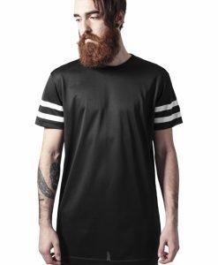 Tricou cu plasa cu dungi negru-alb Urban Classics - Tricouri urban - Urban Classics>Barbati>Tricouri urban