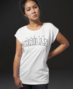 Tricou cu texte amuzante Cheap Thrills pentru Femei alb Mister Tee - Tricouri cu mesaje - Mister Tee>Regular>Tricouri cu mesaje