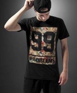 Tricou rap camuflaj cu mesaj 99 Problems negru Mister Tee - Tricouri cu mesaje - Mister Tee>Regular>Tricouri cu mesaje