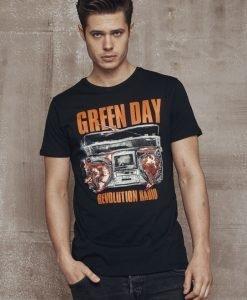 Tricou verde Day Radio negru Merchcode - Tricouri cu trupe - Mister Tee>Trupe>Tricouri cu trupe