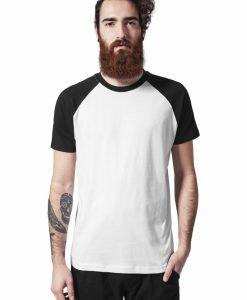 Tricouri casual in doua culori pentru barbati alb-negru Urban Classics - Barbati - Urban Classics>Colectie noua>Barbati
