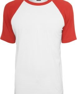 Tricouri casual in doua culori pentru barbati alb-rosu Urban Classics - Barbati - Urban Classics>Colectie noua>Barbati