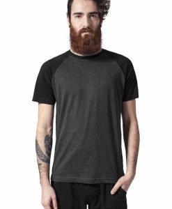 Tricouri casual in doua culori pentru barbati gri carbune-negru Urban Classics - Barbati - Urban Classics>Colectie noua>Barbati