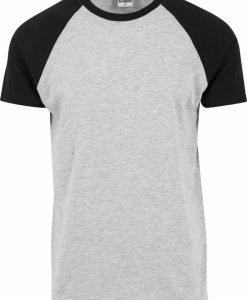 Tricouri casual in doua culori pentru barbati gri-negru Urban Classics - Barbati - Urban Classics>Colectie noua>Barbati