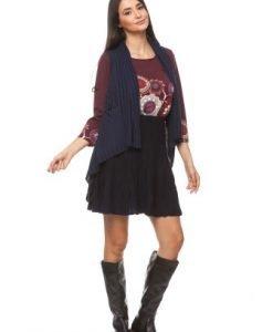 Vesta in colturi din tricot 10674/V1-B bleumarin - Veste -