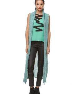 Vesta lunga tricotata manual 3057 vernil - Veste -