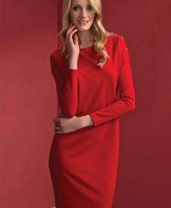 rochie eleganta Dianna Red - Haine si accesorii - Rochii si fuste