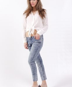 Blugi Cheap Monday Slim Cropped Advanced Blue - 75% OFF - 75% OFF