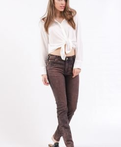 Blugi Cheap Monday Tight Remake Brown - FEMEI - JEANS DAMA
