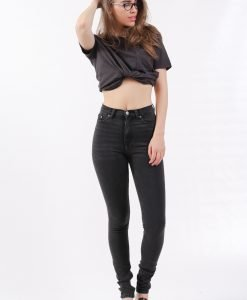 Blugi Weekday Thursday Washed Black SS - FEMEI - JEANS DAMA