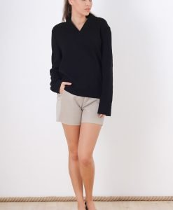Bluza COS V Neck Black - FEMEI - BLUZE