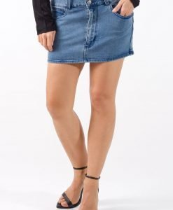 Fusta de blugi Cheap Monday Bleu - 75% OFF - 75% OFF